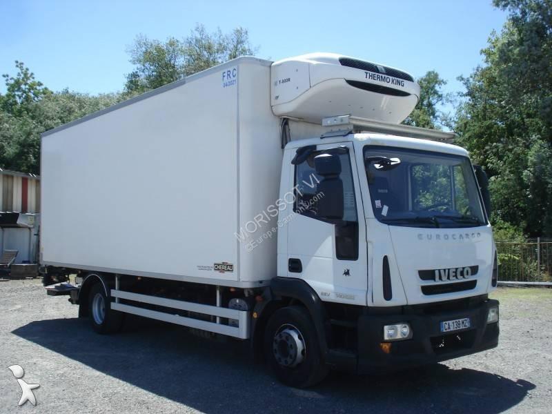 camion iveco frigo thermoking porte viandes eurocargo 140e22 4x2 euro 5 hayon occasion n 2773345. Black Bedroom Furniture Sets. Home Design Ideas