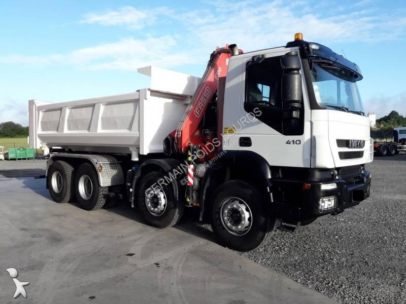 camion iveco bi benne eurotrakker 410 8x4 euro 4 grue occasion n 2826504. Black Bedroom Furniture Sets. Home Design Ideas