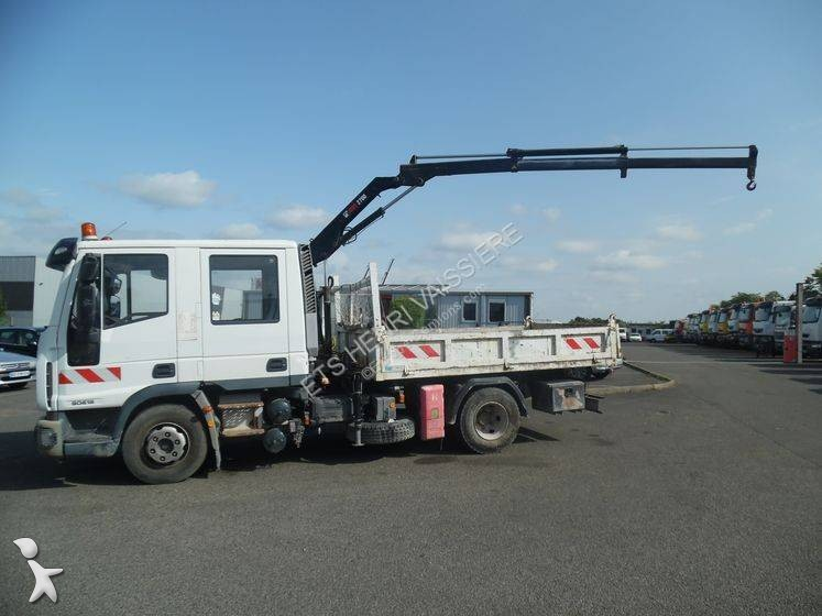 camion iveco benne eurocargo 80e18 4x2 euro 4 grue occasion n 2955757. Black Bedroom Furniture Sets. Home Design Ideas