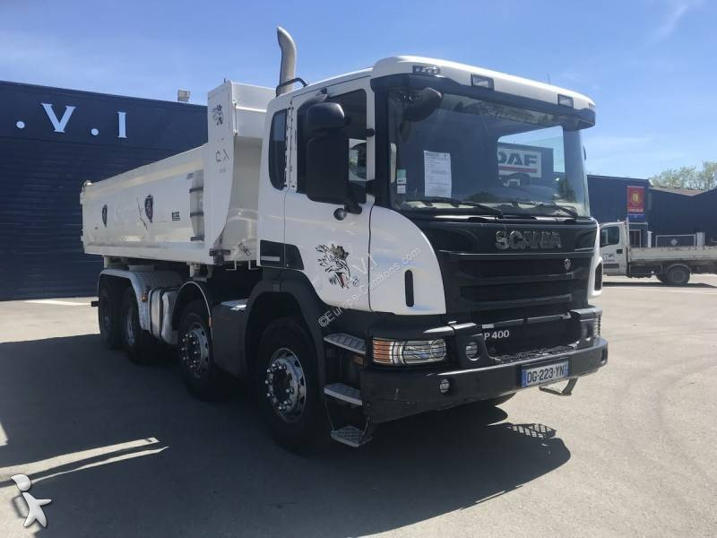 Used Scania P two-way side tipper truck Cox 400 8x4 Diesel Euro 6 -  n°3196388