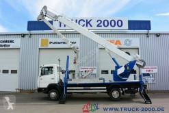 Voir les photos Camion Mercedes 814 Böcker Montage-Dachdecker Kran 23.5m = 300kg