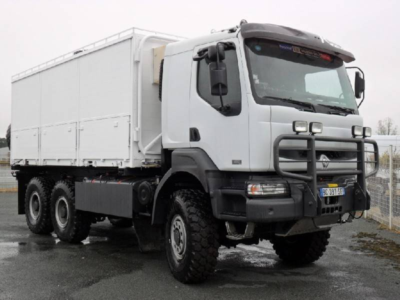 camion renault porte containers kerax 420 dci 6x6 occasion. Black Bedroom Furniture Sets. Home Design Ideas
