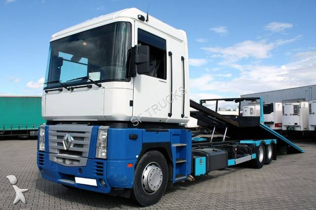 camion renault porte engins magnum 440 6x2 gazoil euro 3. Black Bedroom Furniture Sets. Home Design Ideas