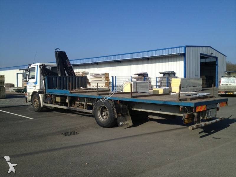 camion scania plateau porte fer m 93m250 4x2 gazoil euro 1 occasion n 686141. Black Bedroom Furniture Sets. Home Design Ideas