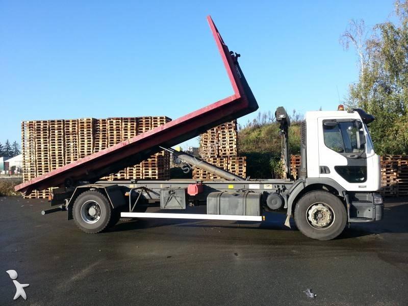Tweedehands kraan met kipper renault 4x2 n 861185 for Vrachtwagen kipper met kraan