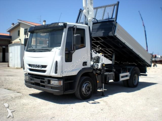 Tweedehands vrachtwagen iveco kipper eurocargo 120e18 for Vrachtwagen kipper met kraan