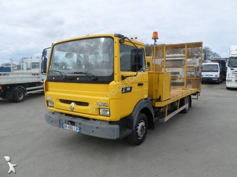 camion renault porte engins midliner 135 4x2 gazoil euro 2. Black Bedroom Furniture Sets. Home Design Ideas