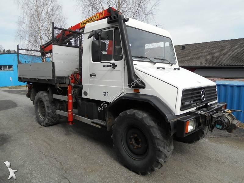 camion mercedes polybenne palfinger unimog 6x4 gazoil euro