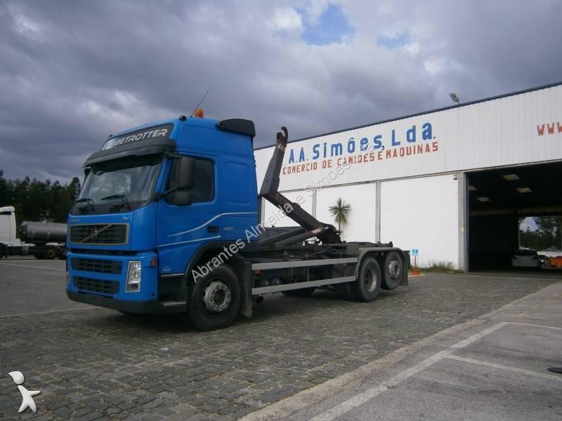 camion volvo multibenna ampliroll fm13 400 6x2 euro 3 usato n 1668140. Black Bedroom Furniture Sets. Home Design Ideas