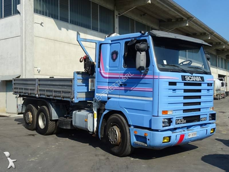 Camion scania ribaltabile trilaterale r 143 6x2 gasolio for Effretti usato