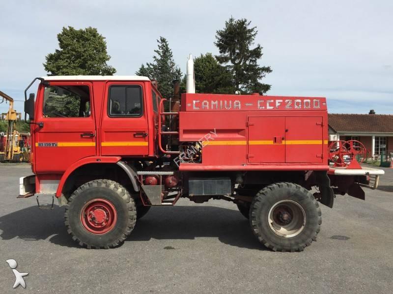 used renault 85 150 ti wildland fire engine truck 4x4 diesel euro 0 n 1721473. Black Bedroom Furniture Sets. Home Design Ideas