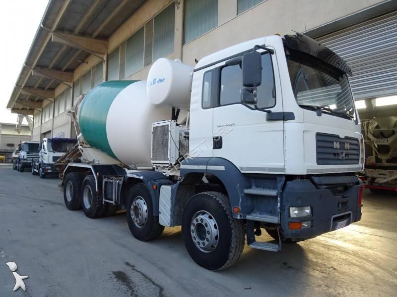 Camion man b ton toupie malaxeur tga 8x4 gazoil - Camion toupie beton ...