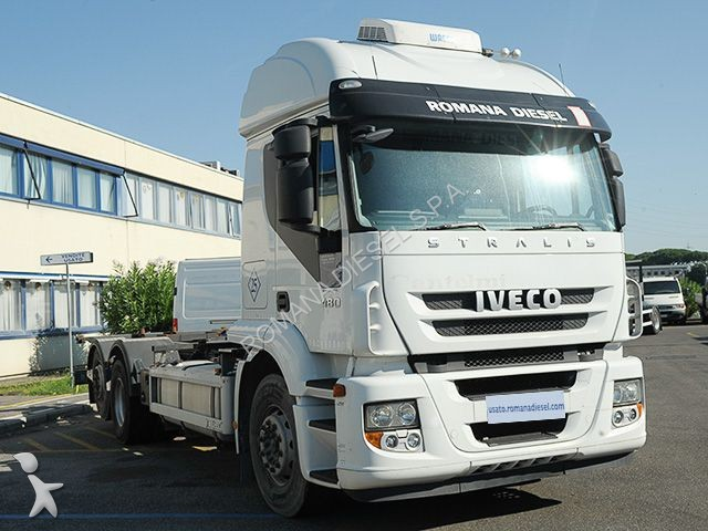Camion iveco portacontainers stralis at260s48 gasolio for Romana diesel usato