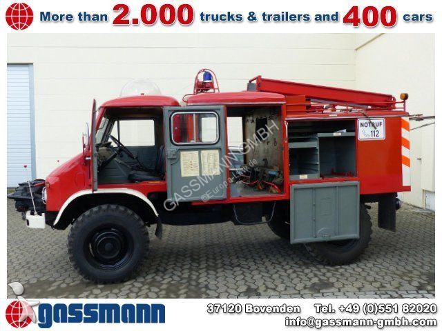 camion unimog fourgon s404 4x4 feuerwehr essence occasion. Black Bedroom Furniture Sets. Home Design Ideas