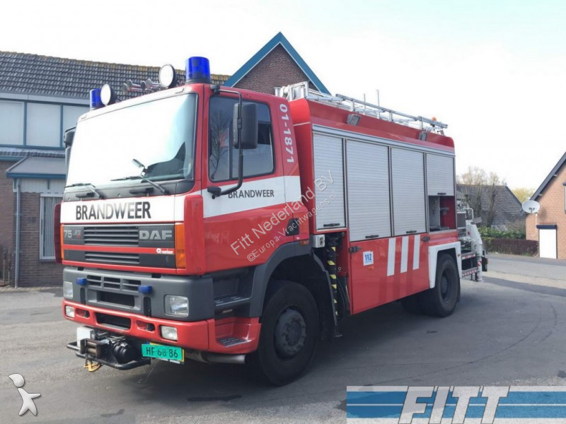 camion pompiers occasion daf fav 75 brandweer hiab 300t kraan gazoil annonce n 2218902. Black Bedroom Furniture Sets. Home Design Ideas