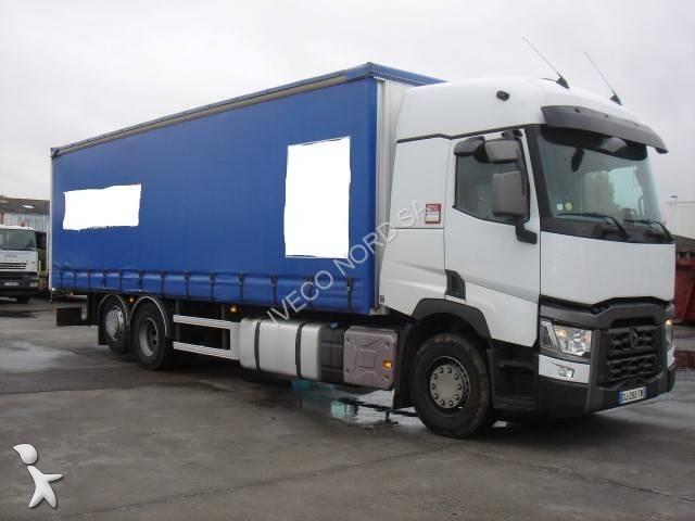 camion renault rideaux coulissants plsc gamme t 380 p6x2 e6 6x2 gazoil euro 6 occasion n 2301629. Black Bedroom Furniture Sets. Home Design Ideas