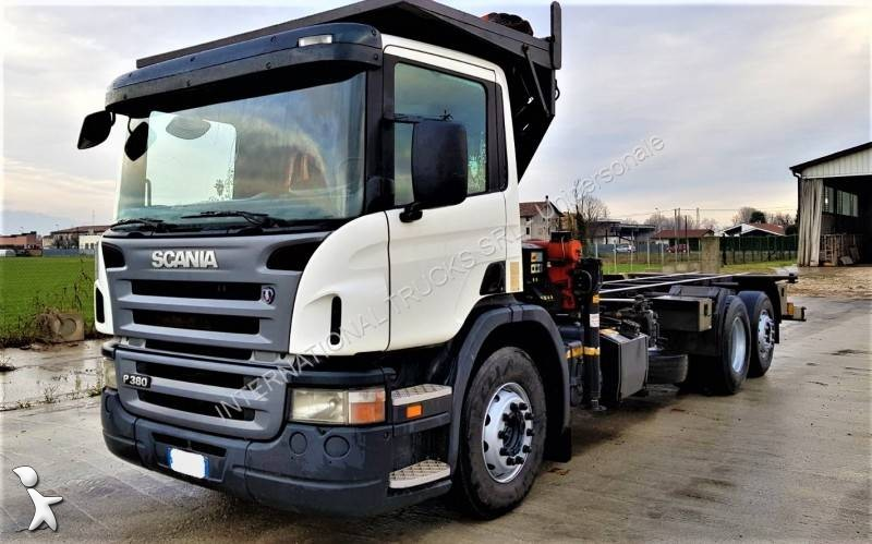 autres camions scania p 380 6x2 euro 3 grue occasion n 2361237. Black Bedroom Furniture Sets. Home Design Ideas