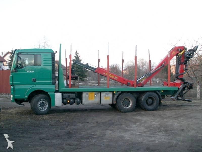 used man tgx timber truck 6x4 diesel euro 6 n 303576. Black Bedroom Furniture Sets. Home Design Ideas