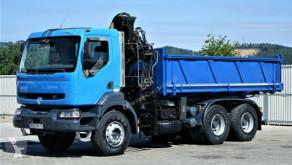 Voir les photos Camion Renault KERAX 370 Kipper 5,40m + Kran 6x4 Topzustand!