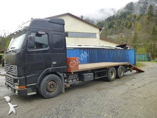 camion porte engins occasion volvo fh12 380 gazoil annonce n 1023383. Black Bedroom Furniture Sets. Home Design Ideas