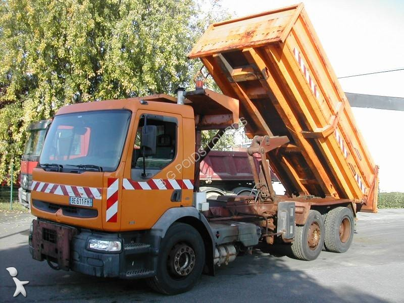 camion renault benne premium 300 6x2 euro 2 occasion n 1453950. Black Bedroom Furniture Sets. Home Design Ideas