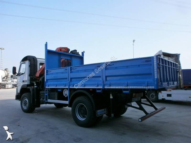 camion volvo benne fm12 380 4x4 euro 3 grue occasion n. Black Bedroom Furniture Sets. Home Design Ideas