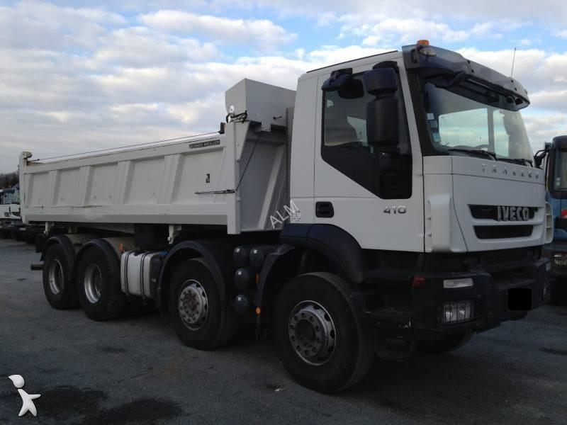 camion iveco bi benne meiller trakker 340 t 41 8x4 euro 4. Black Bedroom Furniture Sets. Home Design Ideas