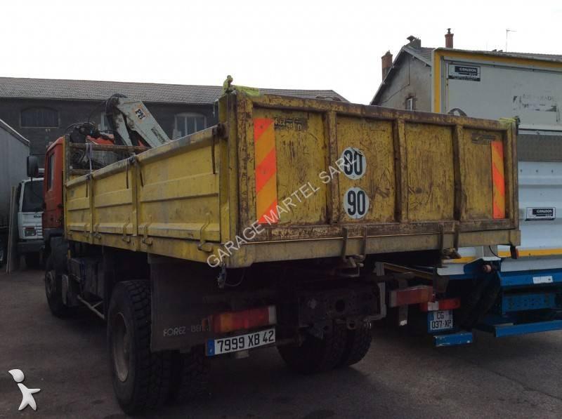 Camion man ribaltabile 4x2 euro 1 gru autogr usato for Garage martel grigny