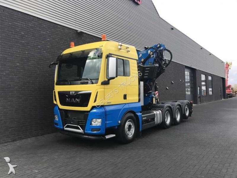 Tweedehands kraan met kipper man tgx 35 520 euro 6 fassi for Vrachtwagen kipper met kraan