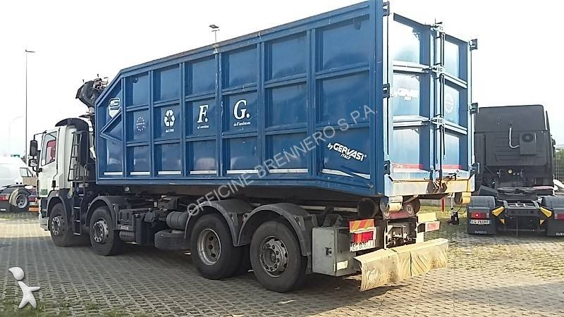 camion daf polybenne cf85 fad 460 8x2 gazoil euro 5 grue. Black Bedroom Furniture Sets. Home Design Ideas