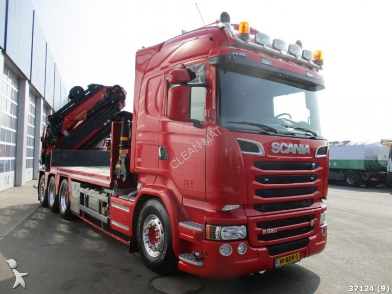 Tweedehands kraan met kipper scania r 520 8x4 v8 euo 6 for Vrachtwagen kipper met kraan