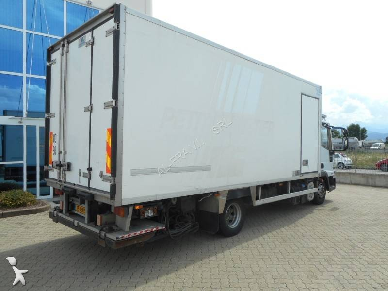 camion iveco frigo carrier monotemperatura eurocargo ml 100 e 18 4x2 euro 5 sponda usato n 2098037. Black Bedroom Furniture Sets. Home Design Ideas