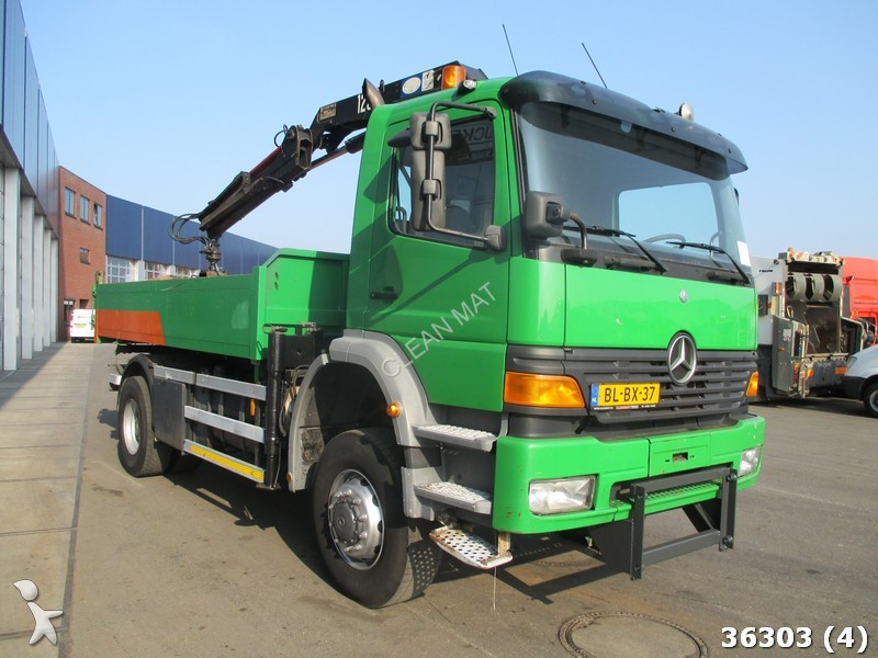 camion mercedes benne 1823 ak 4x4 hmf 12 ton meter kran 4x4 gazoil euro 2 grue occasion n 2128752. Black Bedroom Furniture Sets. Home Design Ideas
