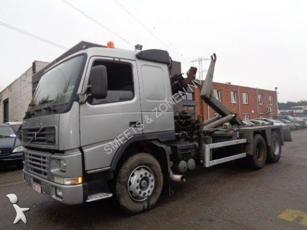 Camion volvo porte containers fm10 360 6x2 gazoil euro 2 - Camion porte container avec grue occasion ...