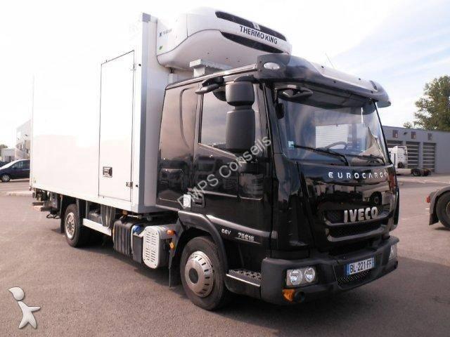 camion iveco frigo thermoking monotemperatura eurocargo 75e15 4x4 sponda usato n 672590. Black Bedroom Furniture Sets. Home Design Ideas