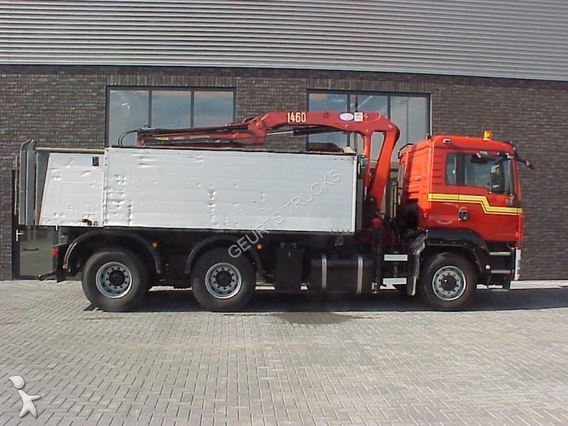Tweedehands vrachtwagen man kipper tgs 26 360 6x6 kipper for Vrachtwagen kipper met kraan