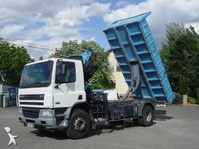 camion daf benne cf75 310 4x2 euro 3 grue occasion n 2055837. Black Bedroom Furniture Sets. Home Design Ideas