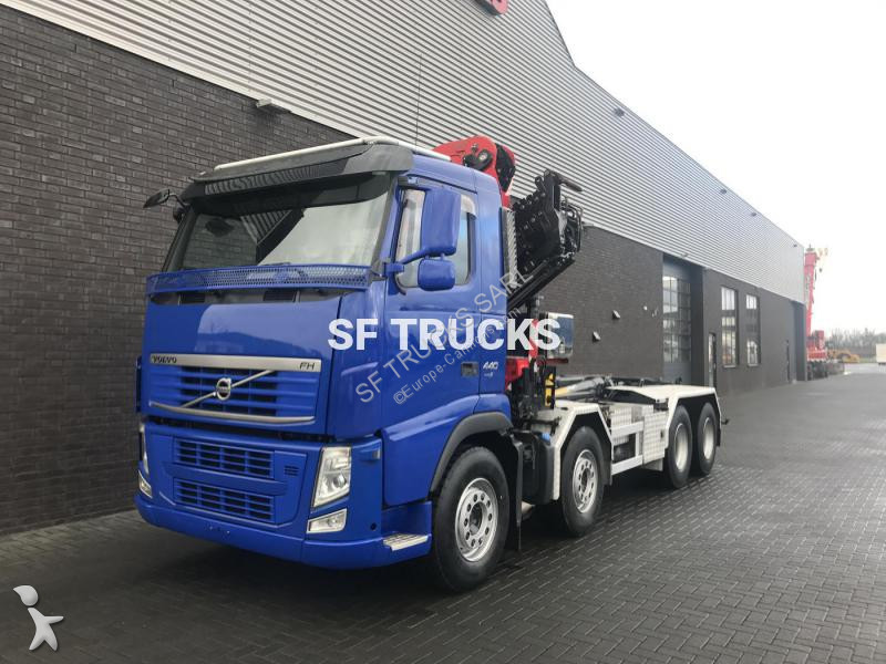camion volvo polybenne grue eiffer 30tm 8x4 gazoil euro 5. Black Bedroom Furniture Sets. Home Design Ideas