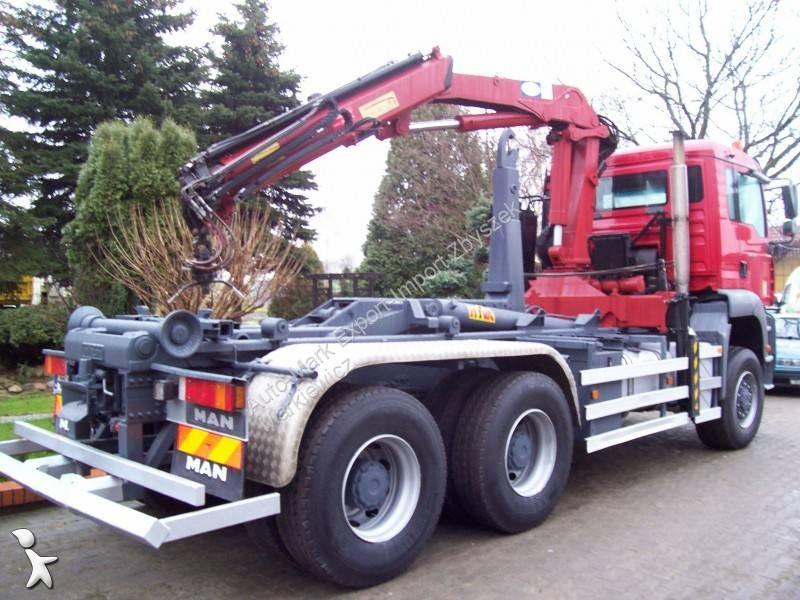 camion man polybenne hyva 6x6 euro 3 grue occasion. Black Bedroom Furniture Sets. Home Design Ideas