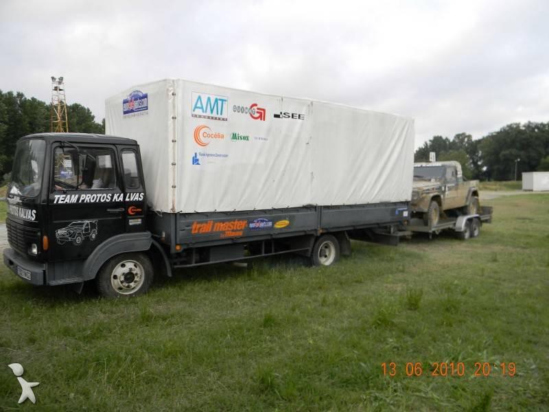 camion renault plateau ridelles b ch jk 75 4x2 occasion. Black Bedroom Furniture Sets. Home Design Ideas