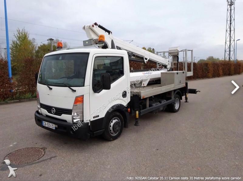 camion nissan nacelle cabstar camion cesta 20 metros gazoil occasion n 2486524. Black Bedroom Furniture Sets. Home Design Ideas