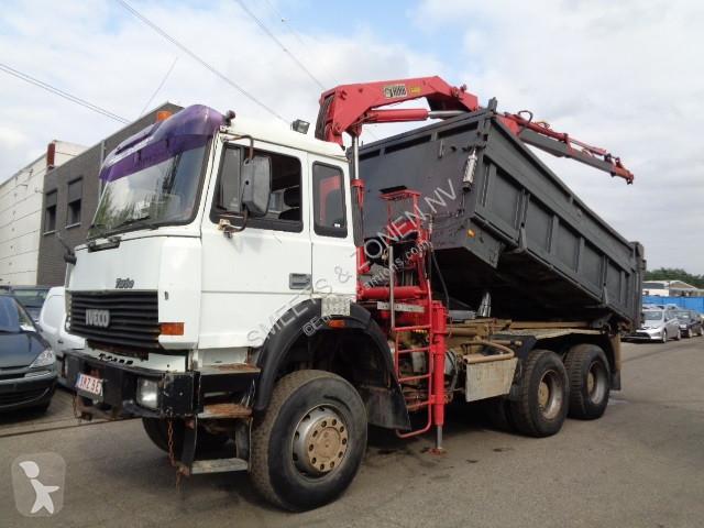 camion iveco benne magirus 6x6 grue occasion n 2828243. Black Bedroom Furniture Sets. Home Design Ideas