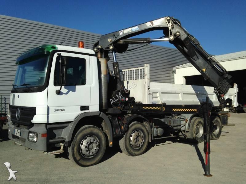 camion mercedes benne lohr actros 3236 8x4 euro 3 occasion n 2029293. Black Bedroom Furniture Sets. Home Design Ideas