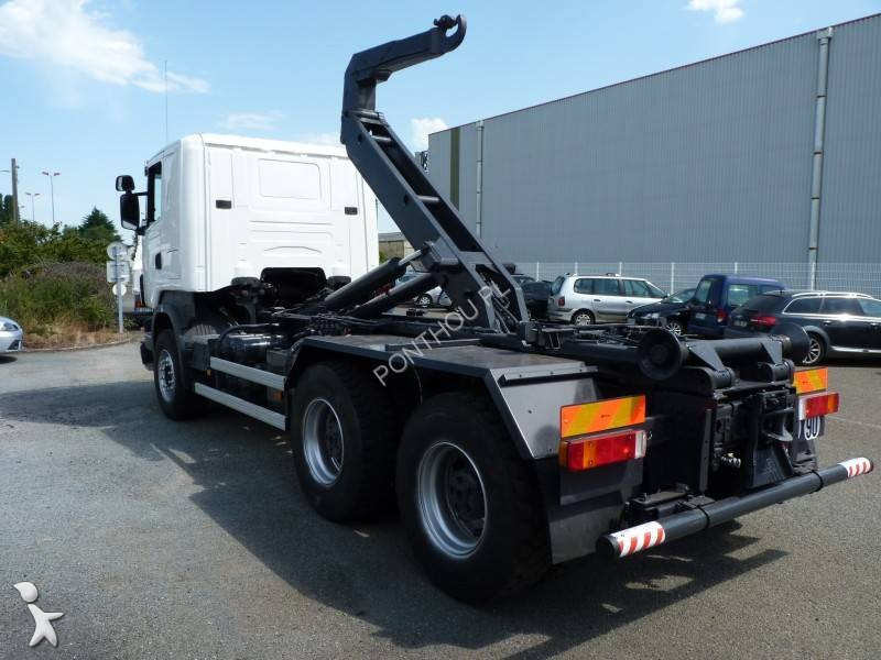 camion scania multibenne ampliroll r 580 6x4 gazoil euro 3 occasion n 2373000. Black Bedroom Furniture Sets. Home Design Ideas