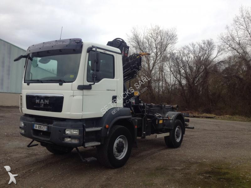 camion man polybenne tgm 4x4 gazoil euro 4 grue. Black Bedroom Furniture Sets. Home Design Ideas