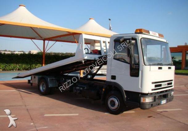 camion iveco porte engins 80e15 k 88 occasion n 2036418. Black Bedroom Furniture Sets. Home Design Ideas