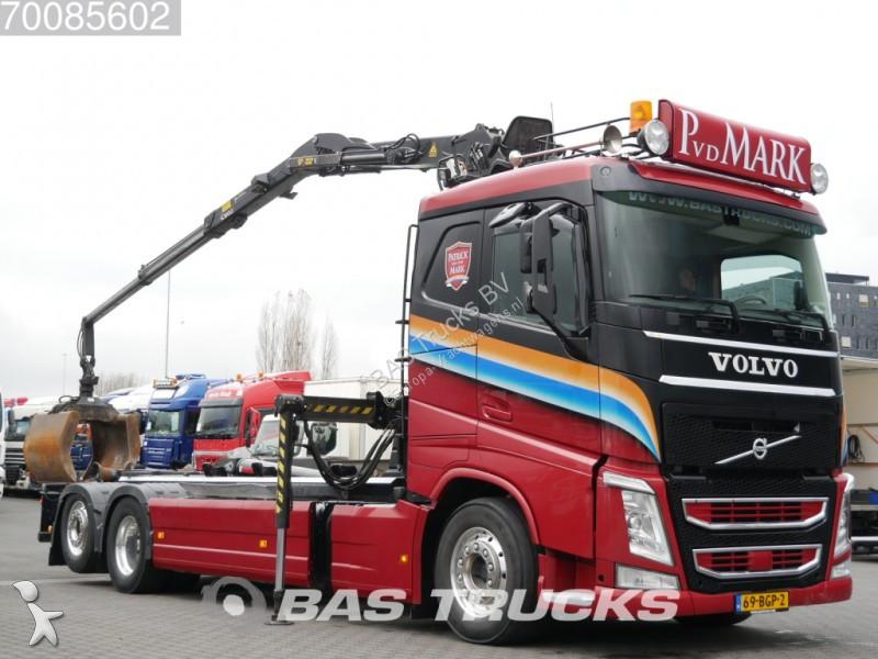 Camion volvo porte containers fh 540 6x2 gazoil euro 6 - Camion porte container avec grue occasion ...