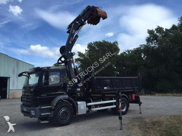 camion mercedes bi benne axor 1833 4x2 grue hiab 28tm 4x2 gazoil euro 5 grue occasion n 1377751. Black Bedroom Furniture Sets. Home Design Ideas