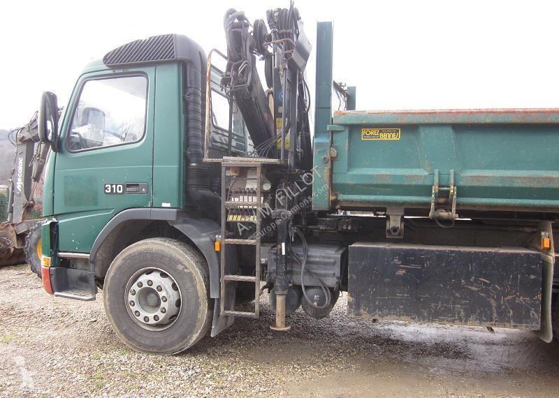 camion volvo bi-benne fm7 - 310 cv grue occasion