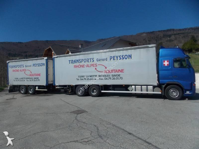 camion remorque volvo rideaux coulissants plsc fh16 540 gazoil euro 3 occasion n 1033935. Black Bedroom Furniture Sets. Home Design Ideas